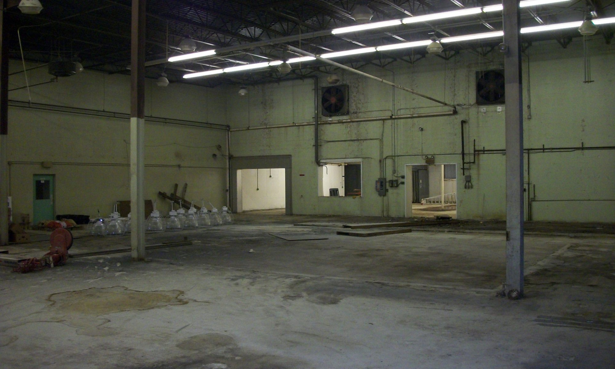 open warehouse area